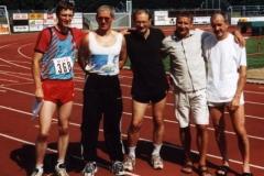 v.l.n.r.: Mark Kölzow, Jürgen Umann, Joachim Hickisch, Czeslaw Pradzynski, Helmut Meier, Oldenburg, Landesmeisterschaften Senioren 2001