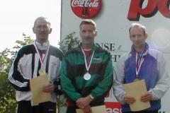 Damit war Jürgen Umann erfolgreichster Zevener Teilnehmer. Über 100m gewann er in 12,14 sec. bei jedoch 2,5m RW vor Frank Kindermann, MTV Wolfenbüttel und Ingo Kaun, MTV Aurich. Siehe Foto v.l.n.r. Umann,Kindermann, Kaun