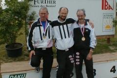 Gruppenfoto zum Veranstaltungsschluss: Jürgen Umann,Joachim Hickisch und Helmut Meier