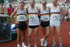 Die 4 Zevener Athleten bei der EM: v.l.n.r: H.G.Müller, J.Hickisch, H. Meier, J.Umann