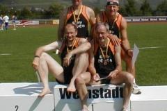 Vorne v.l. J.Hickisch, H. Meier Hinten J.Umann, H.G. Müller