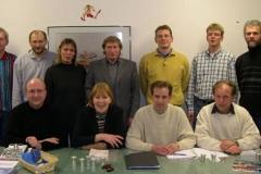 Der neue LAV Vorstand: hintere Reiche v.l.nr.: J.Umann, J.Hickisch, F.Fröhlich, H.H.Neblung D.Bredehöft, J.Dohrmann, T.Maxin. Vordere Reihe: J.Zschiesche, M.Zabel, R.Dohrmann, H.J.Harms