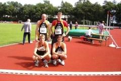 Landesmeister 4x100m Staffel M30 Thomas Zschiesche, Mark Kölzow Jens Dohrmann, Rainer Dohrmann