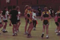 Aufwärmgymnastik aller Teilnehmer