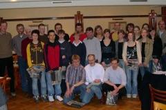 Gruppenbild aller geehrten Kreismeister 2004