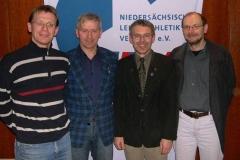 Die gewählten Vorstandsmitglieder: Detlef Bredehöft, Jürgen Umann, Erwin Will und Joachim Hickisch