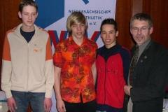 v.l.n.r. Hannes Maxin, Ingmar Fröhlich, Kenneth Gerschler, Erwin Will