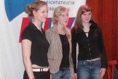 Silber: TuS Alfstedt Miriam Buck Kathrin Link Henrike Berdel für ihre Leistung Platz 14 Siebenkampf Mannschaft Platz 41