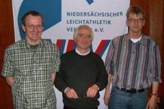 v.l.n.r. Bernd Bredehöft, Wettkampfwart Dr. G. Zabel und Jens Dohrmann