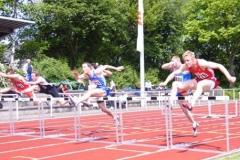 110m Hürden Sieger männl. Jugend A Bahn 1 Paul Dittmer MTV Hanstedt