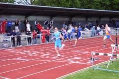 Zieleinlauf 1. Zeitlauf 400m 1. Sebastian Ernst SV Schalke 04 49,