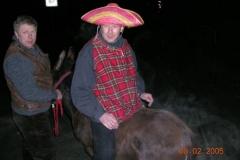 Vor der großen Geburtstagsfete musste er auf dem Esel reiten.