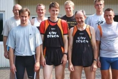 2004 hinten links mit in der Schwedenstaffel in Zeven