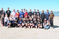 Die Trainingsgruppe am Adriastrand