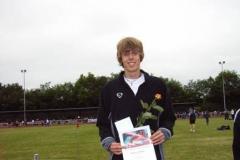Marcel Roßberg, Halstenbeker TS, Sieger mit 2,11m im Hochsprung der männlichen Jugend B