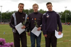 Siegerehrung Männer 200m