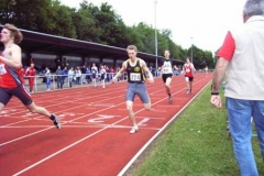 800m männliche Jugend B 2. von rechts der LAV Athlet Hannes Maxin, Jahrgang 1989
