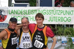 Nur Hans-Georg Müller, Helmut Meier und Mark Kölzow in Jüterbog am Start