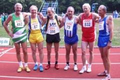 Die Endlaufteilnehmer 100m M55