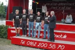 Zeven startet in der Besetzung: Ingmar Fröhlich, Timm Müller, Jens Dohrmann, Klaus Krieglsteiner und Rainer Dohrmann. Foto: Theo Maxin