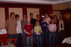 Anwesende Gewinner des Werfercups 2006 in Zeven