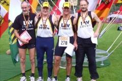Nach 2006 auch in diesem Jahr Deutscher Meister M50 4x400m Staffel