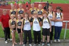 Die gesamte Blockwettkampfmannschaft mit Trainer Hans-Hermann Neblung