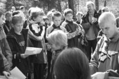 Kreisschülerwart Herbert Kleyer und Hans-Hermann Neblung von der LAV Zeven