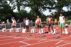 100m Start A-Finale Männer in der Mitte Stefan Schwab