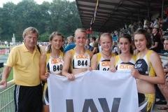 v.l.n.r.: Trainer Hans-Hermann Neblung, Sarina Holsten, Anna Tomforde, Mareike Schuster, Chantal Raas und Magdalena Swensson