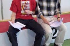 Helmut Meier und Dr. Bernward Schneegans nach den 400m Zeitendläufen