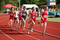 Den zweiten Pfingstsportfestrekord stellte Fabian Brunswig (589)von der LG Braunschweig auf. Im 1500m Lauf der männlichen Jugend B sicherte er sich den Sieg in 3:55,71 min vor Steffen Brümmer vom VfL Löningen.