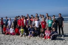 Die Leichtathleten der LAV Zeven hatten im Trainingslager auf Norderney bestes Wetter.
