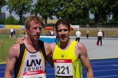 Thomnas Silies Sieger M35 und Thomas Ruminski, Sieger 5000m M 50