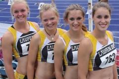 Die Teilnehmerinnen an den Deutschen Jugendmeisterschaften von Links: Anna Tomforde, Mareike Schuster, Sarina Holsten und Chantal Raas