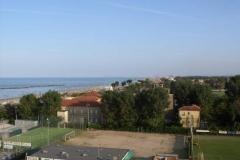 Blick vom Hotel zum Meer