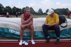 Eike Onnen nach seinem Wettkampf im Interview mit Jens Zschiesche von der Zevener Zeitung