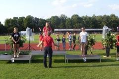 Siegerehrung 100m weibl. Jugend B Sarina Holsten Platz 3