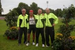 Die 4x100m Staffel M50 J.Umann,H.G. Müller,C.Pradzynski und J.Hickisch