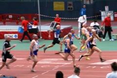 Zieleinlauf Finale 60m M60 Helmut Meier gewinnt die Deutsche Meisterschaft.