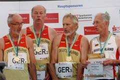 Siegerehrung 4x400m Staffel