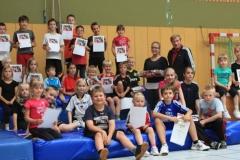 Verabschiedung von Swenja Bredehöft in der Sporthalle des MTSV Selsingen.