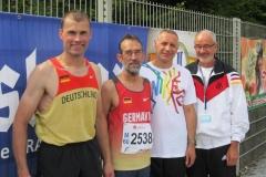 Die erfolgreichen LAV Zeven-Teilnehmer der EM 2012. Andreas Müller, Detlef Wickmann, Czeslaw Pradzynski und Helmut Meier gingen in Zittau an den Start