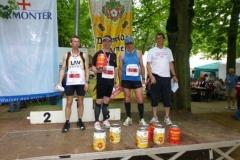 Ahlfeld, Brandhorst und Schulz bei der Siegerehrung