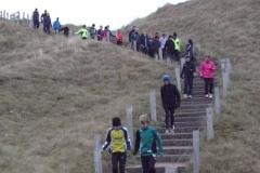 Auch der tägliche Lauf über die Treppe der Aussichtsdüne gehörte zum Trainingsprogramm.