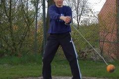Janik Dohrmann stellte einen neuen Kreisrekord im Hammerwurf auf.