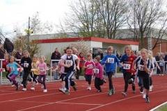 Start zum ersten Lauf des diesjährigen Run Up , der Saisoneröffnung auf der Sportanlage an der Kanalstraße.