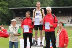 Siegerehrung 200m M50 Norddeutscher Meister Achim Bethge