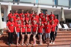 Die Trainingsgruppe der LAV kurz nach der Ankunft in Igea Marina