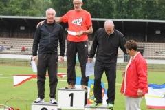 Siegerehrung 200m M60 Norddeutscher Meister Helmut Meier